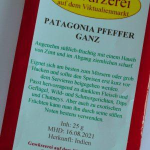 Patagonia Pfeffer ganz, 25 g