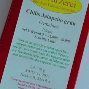 Chilis Jalapeno grün, gemahlen 30 g