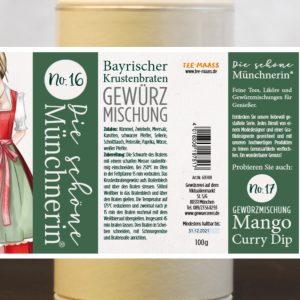 Bayrischer Krustenbraten Gewürzmischung – Schöne Münchnerin / 100 g   6,90 €