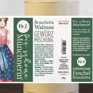 Bruschetta Walnuss Gewürzmischung – Schöne Münchnerin / 100 g