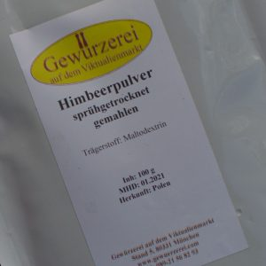 Himbeerpulver sprühgetrocknet gemahlen / 100 g