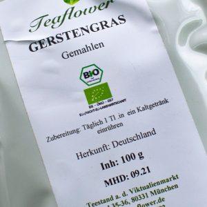 Gerstengras gemahlen / 100 g