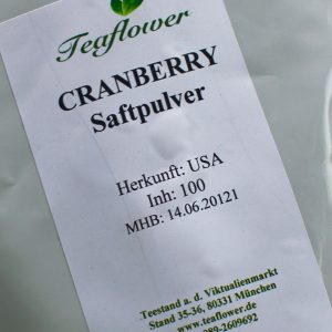 Cranberries gemahlen in Pulver / 100 g