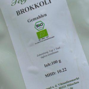 Brokkoli gemahlen / 100 g