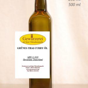 Grünes Thai-Curry Öl – veganes Öl