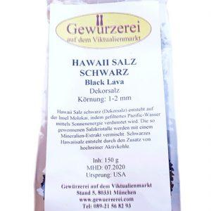 Hawaii Salz – schwarz / Dekorsalz 150 g
