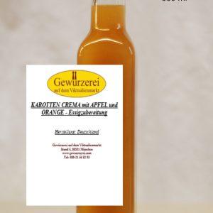 Karotten Crema mit Apfel und Orange – vegan / Essig