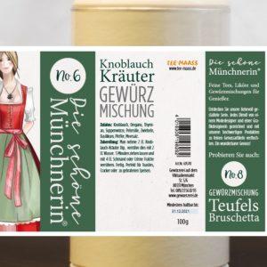 Knoblauch Kräuter Gewürzmischung – Schöne Münchnerin / 100 g