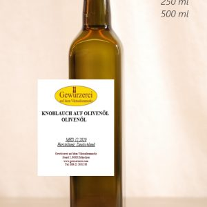 Knoblauch auf Olivenöl – veganes Öl