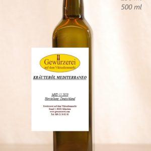 Kräuteröl Mediterraneo  –  veganes Öl