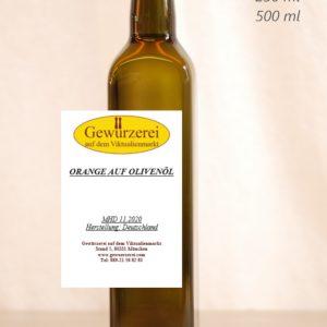 Orange auf Olivenöl – veganes Öl