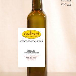 Steinpilz auf Olivenöl – veganes Öl