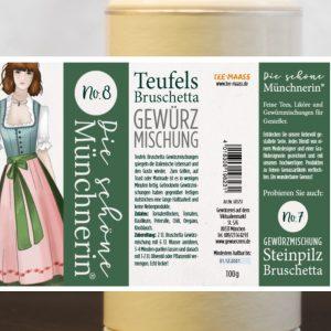 Teufels Bruschetta Gewürzmischung – Schöne Münchnerin / 100 g