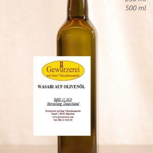 Wasabi auf Olivenöl – veganes Öl