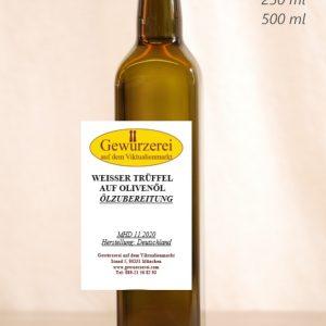 Weisser Trüffel  auf Olivenöl – veganes Öl