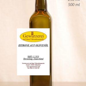 Zitrone  auf Olivenöl – veganes Öl