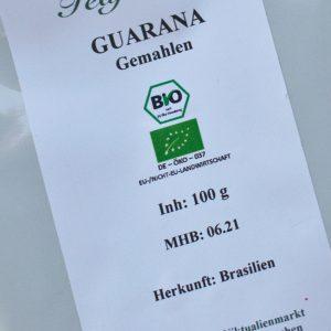 Guarana gemahlen / 100 g