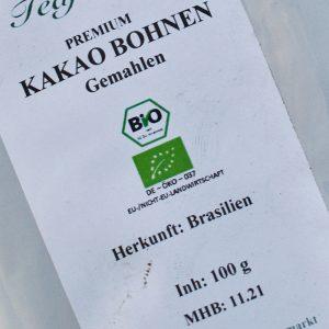 Kakao Bohnen gemahlen BIO / 200 g