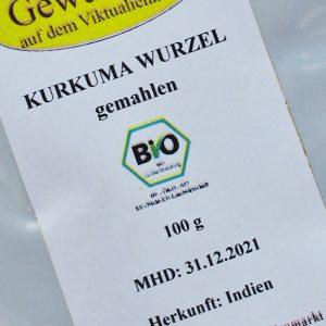 Kurkuma gemahlen / 100 g