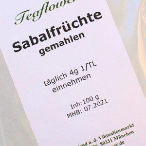 Sabalfrüchte gemahlen / 100 g