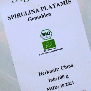 Spirulina Platanis gemahlen / 100 g