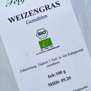 Weizengras BIO gemahlen / 100 g