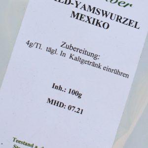 Yamswurzel gemahlen / 100 g